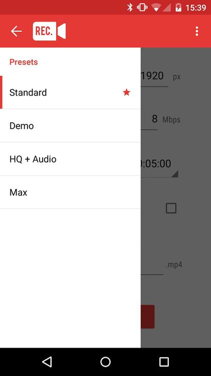 la guida per la registrazione dello schermo android con root