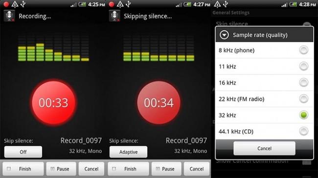 5 migliori registratori vocali android gratuiti