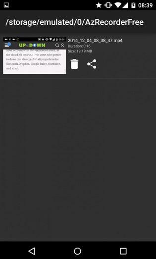 az registratore dello schermo per android