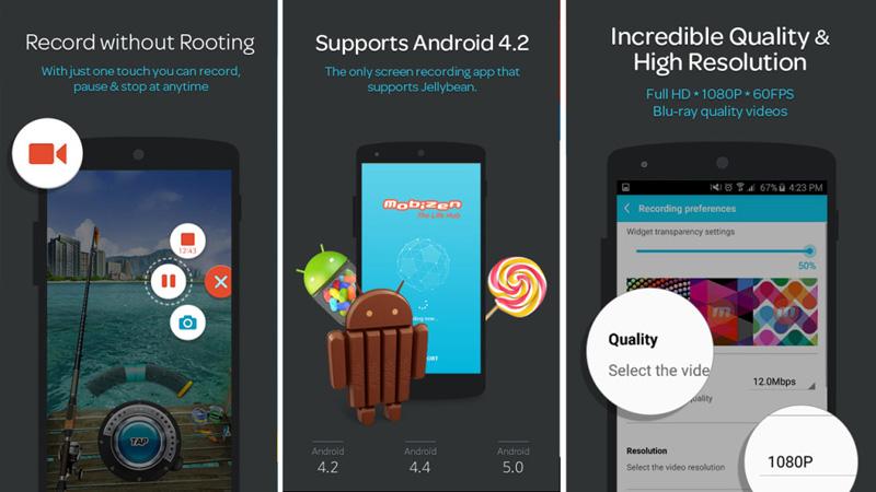 le successive 9 applicazioni di registrazione di giochi per android