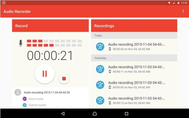 i 5 migliori registratori audio per android