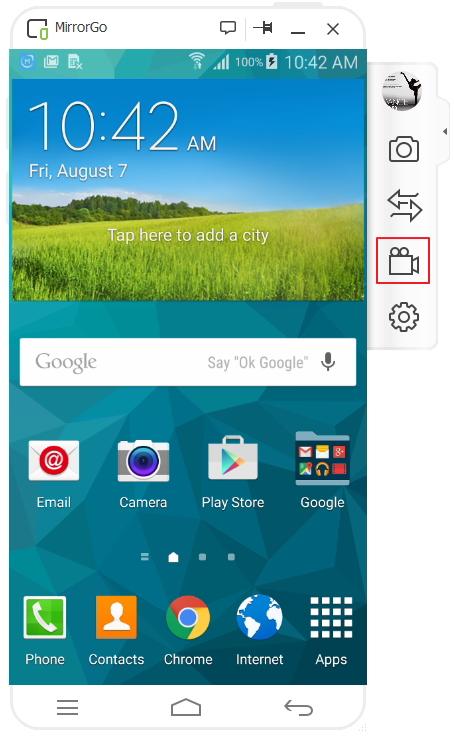 come registrare lo schermo android con wondershare mirrorGo registratore android