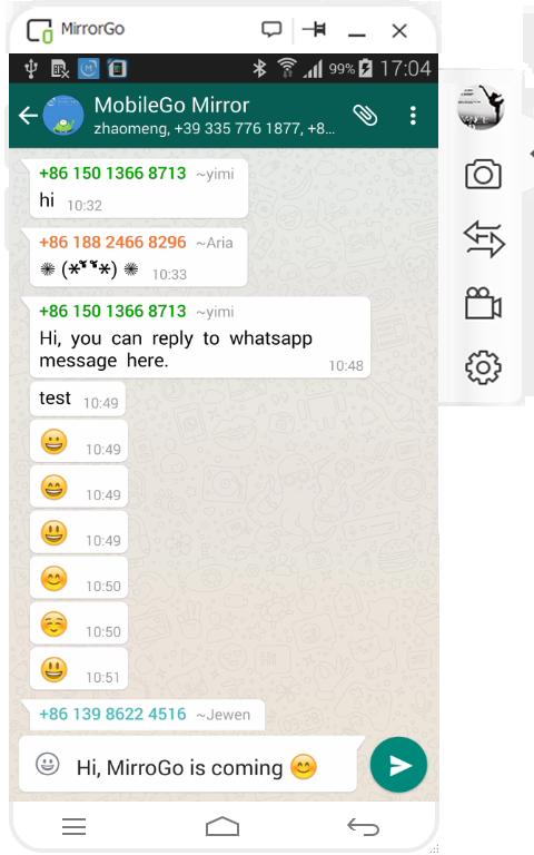 come usare mirrorgo per registrare lo schermo android