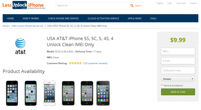 Come Sbloccare il Codice IMEI dell'iPhone SE/6S(Plus)/6(Plus)/5S/5C/5/4S/4