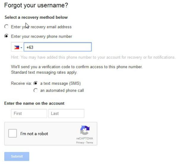 resettare la password gmail quando viene dimenticata