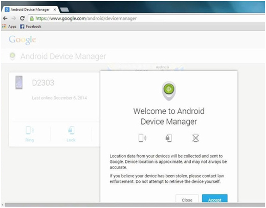sbloccare il segno del tuo dispositivo android traimte android device manager