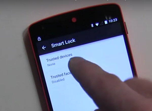 turn on smart lock for android with trusted devices