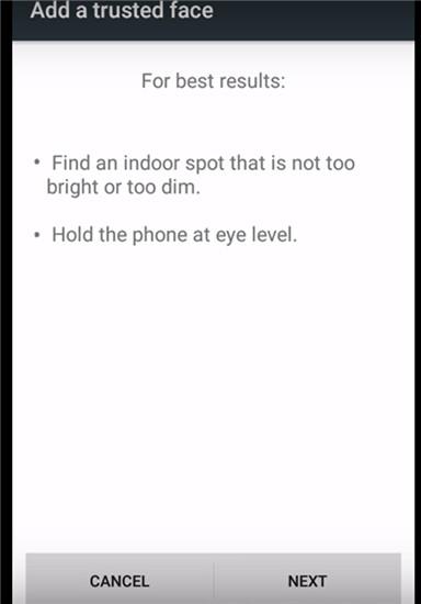 attivare smart lockl per android tramite un volto attendibile