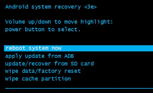 come resettare la password del telefono android utilizzando il ripristino delle impostazioni di fabbrica.