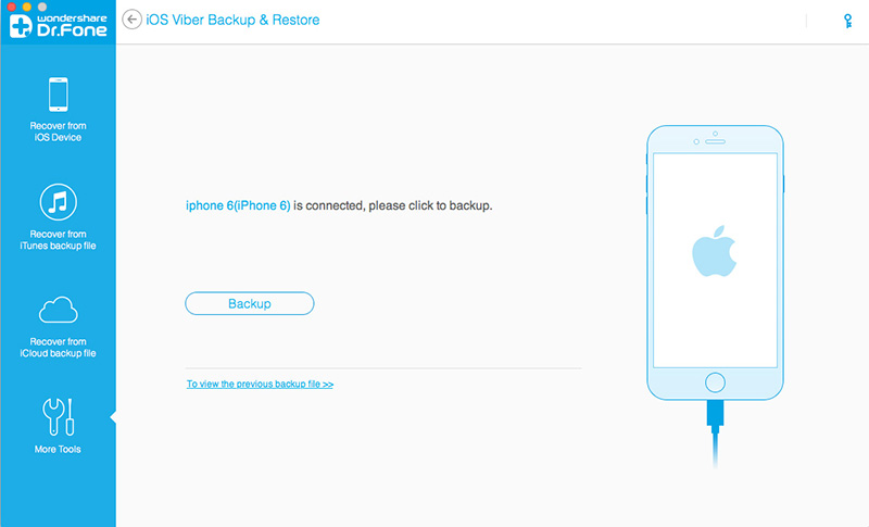 ripristina i messaggi viber da iphone ipad