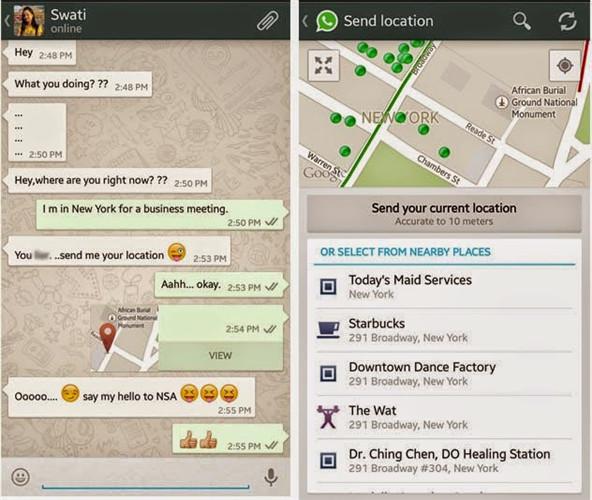 condivisione della posizione whatsapp su telefoni androi