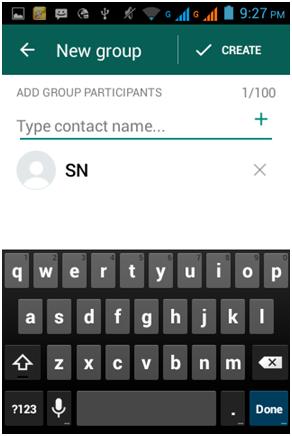 creare un gruppo di whatsapp