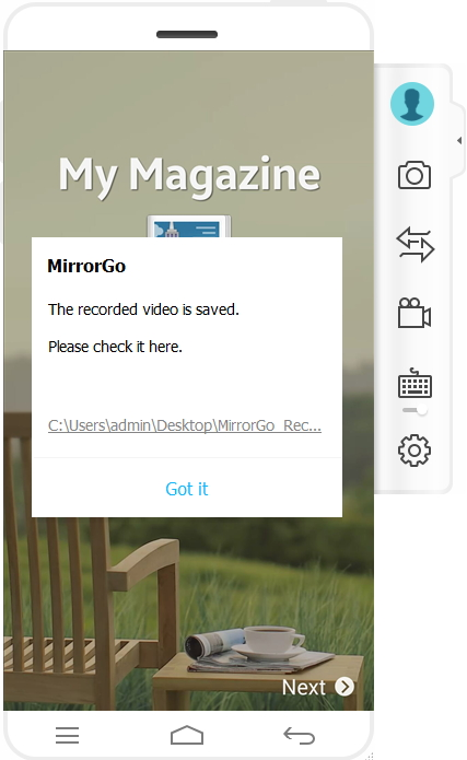 mirrorgo android recorder