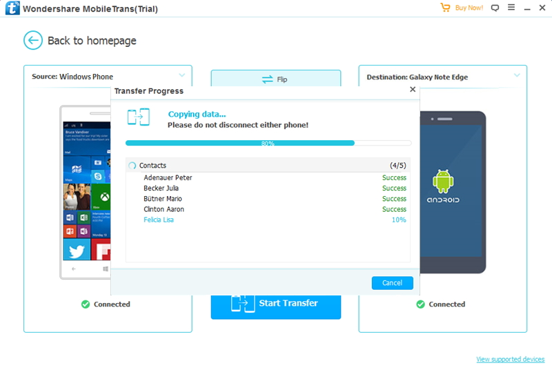 Four ways to transfer data from Windows phone to Android device for free