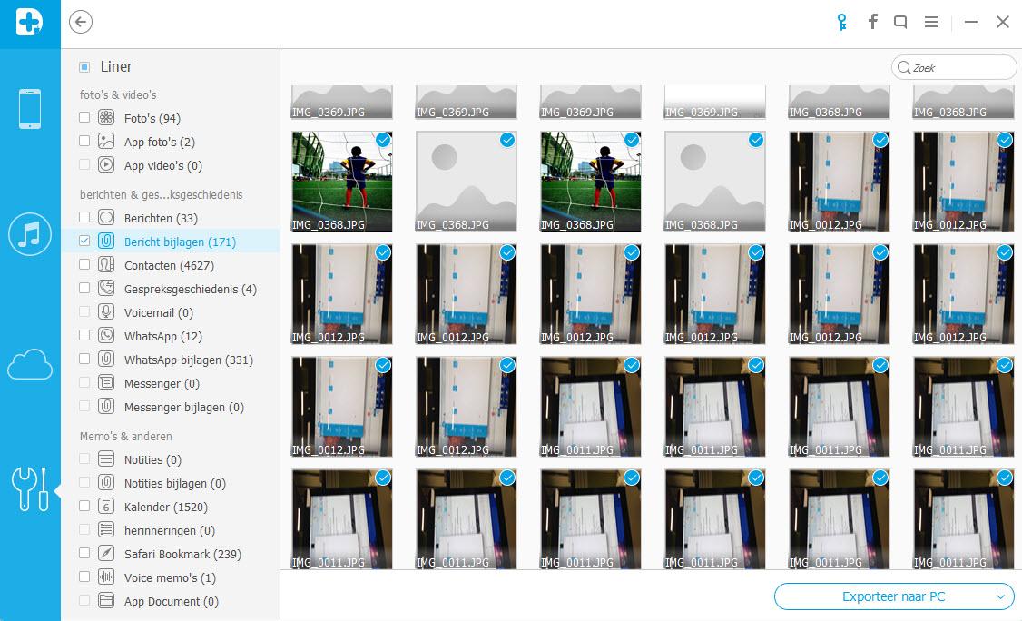 foto's opslaan vanuit iPhone MMS