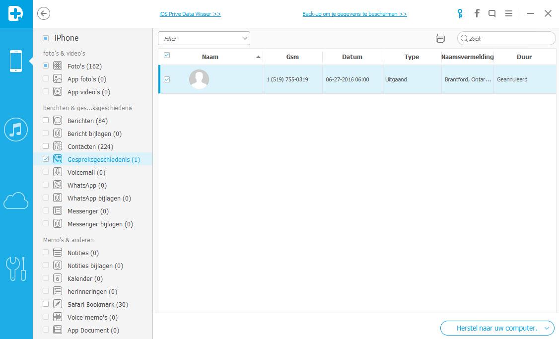 Hoe kan ik verloren belgeschiedenis terughalen op mijn iPhone?