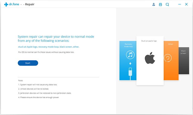 repareer iOS besturingssysteem