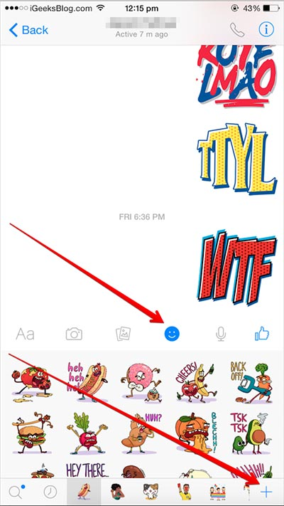 add facebook messenger stickers in imessage