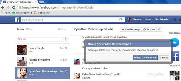 click and open deleted facebook message