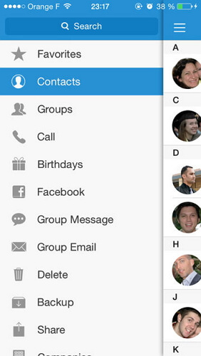 syncing facebook contacts with iphone