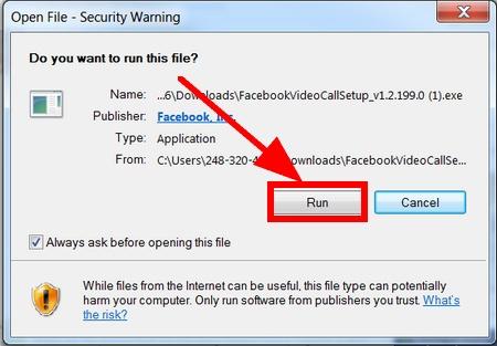facebook video chat problem