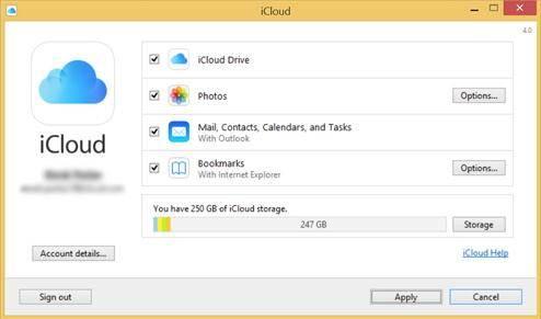 enable iCloud backup on Windows PC