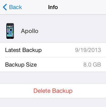 Herstellen iPhone via iCloud Back-up