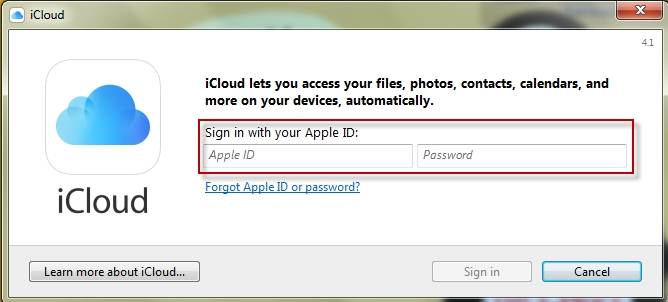 access iCloud photos by PC