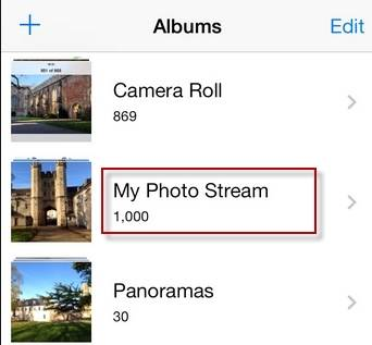 access iCloud photos by iOS devices