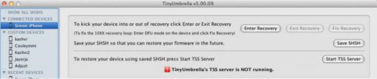 DFU mode tool Tiny Umbrella