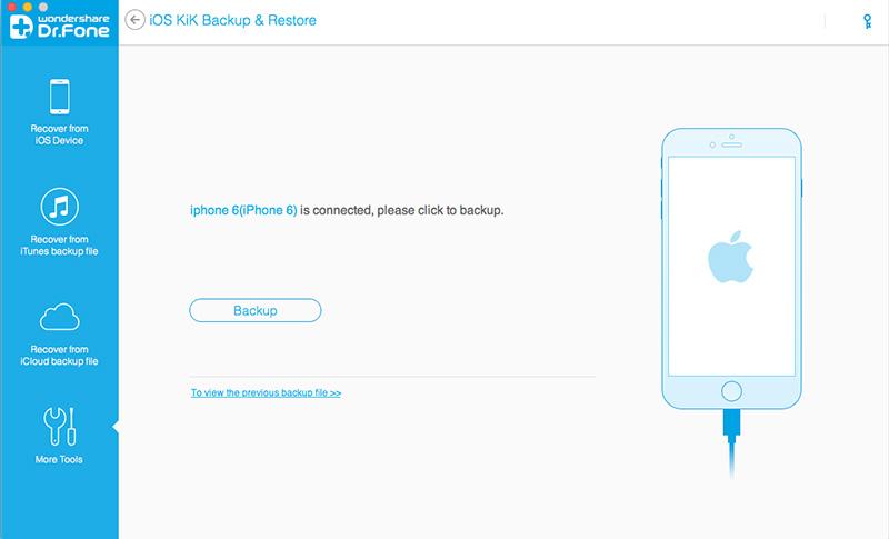 sluit het apparaat aan om Kik berichten op de iPhone te verbinden