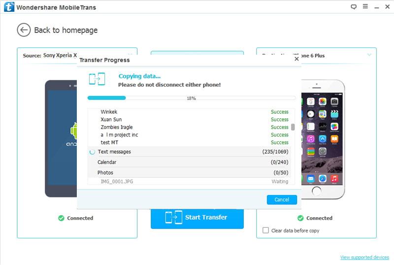 Transfer telefoonnummer van van Sony Xperia naar iPhone