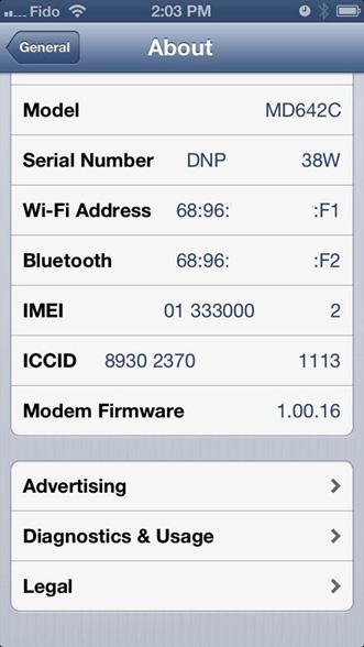 iPhone has bad esn
