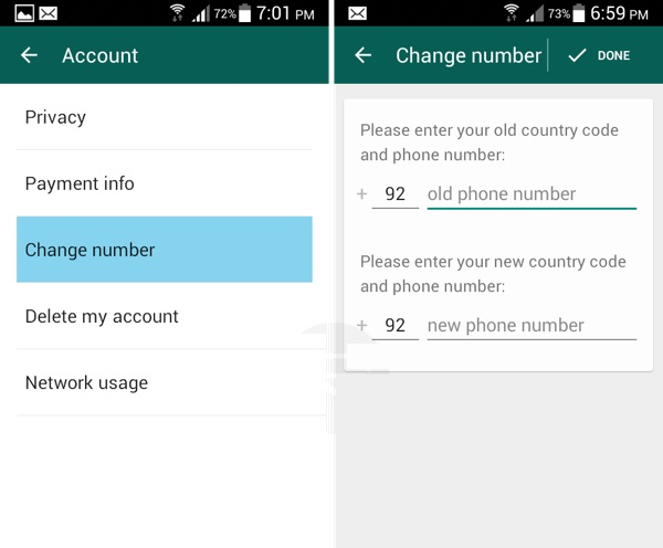 whatsapp setting steps