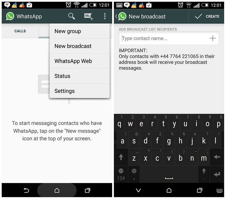whatsapp tricks and tips-Send Private Messages in Bulk