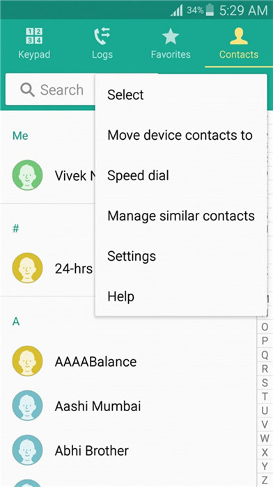 sauvegarde des contacts android