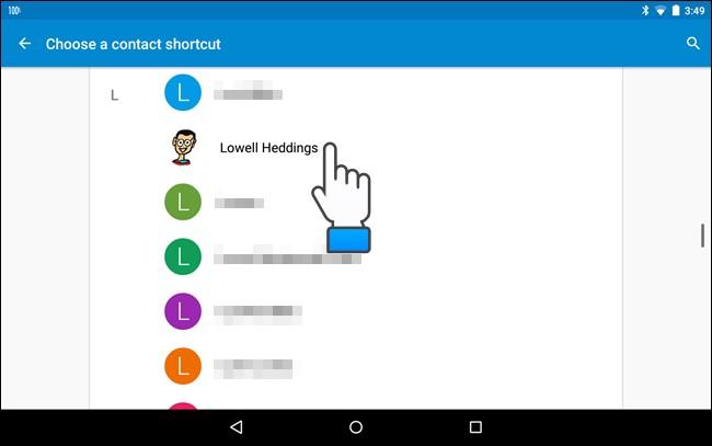 passi per widget contatti preferiti android sui tablet