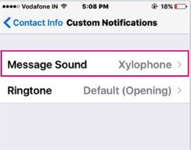 whatsapp ringtone-Click Message sounds