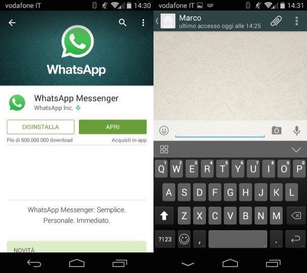 Downloading android whatsapp application