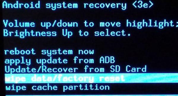 modo de recuperación samsung