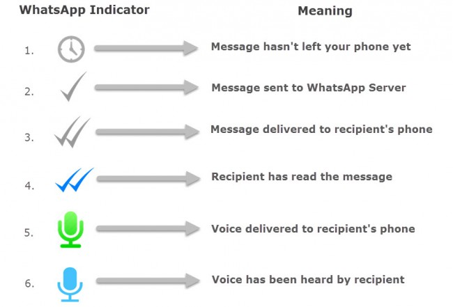o que significam os vistos do whatsapp como distinguir os varios vistos diferentes