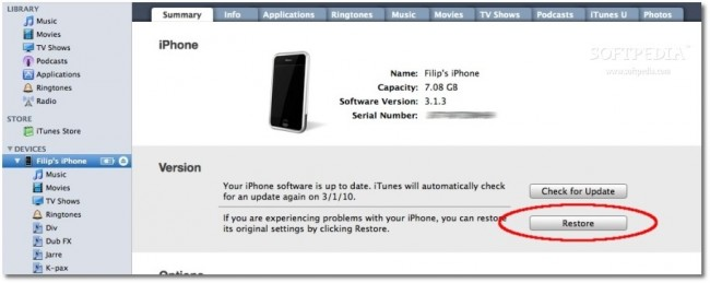 iphone error 2009
