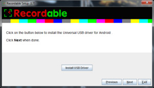 Recordable app installation setup