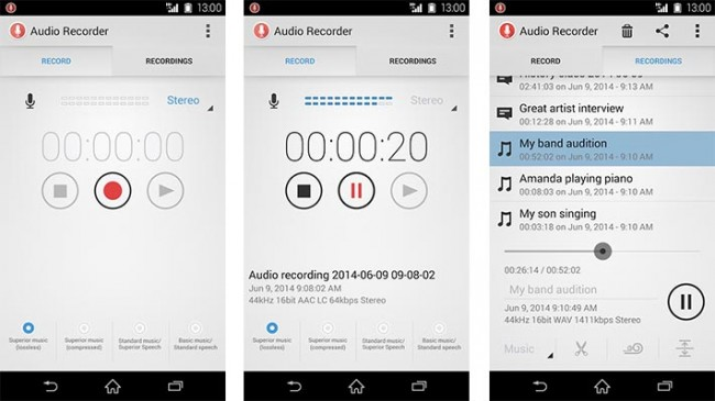 Audio Recorder app for Android