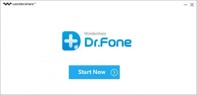 launch dr.fone to view iTunes backup photos