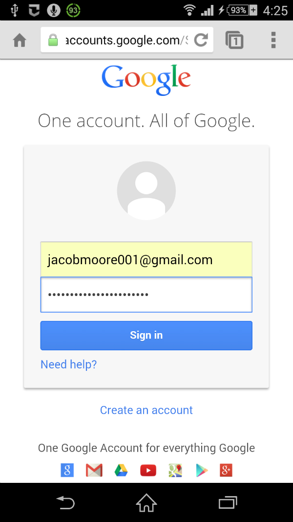 gmail password reset not working