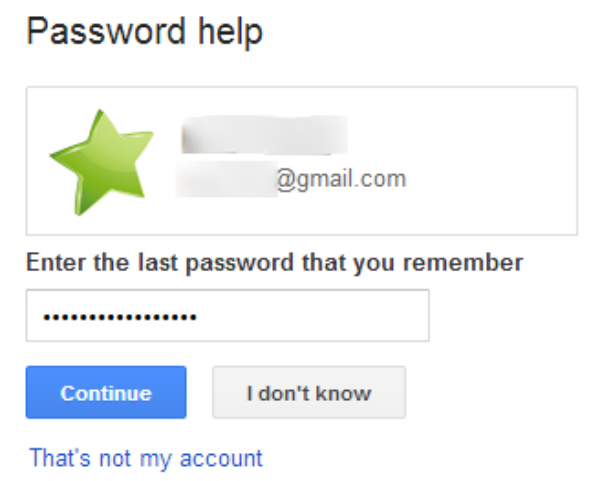 reset Gmail password on Android-fill in a CAPCHA form