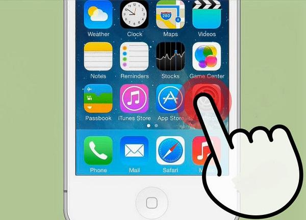 comenzar a restablecer el correo electrónico Icloud desde Iphone