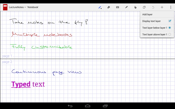 notas para android