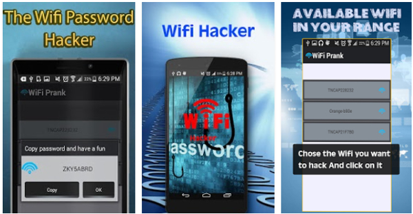 hack wifi password android